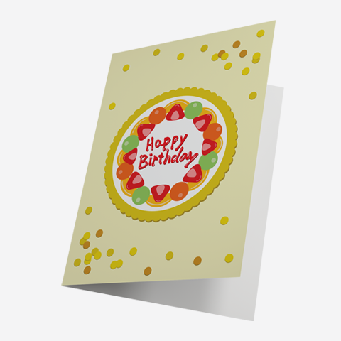 Mixed Fruit Cake Birthday Card By Lillian Lee