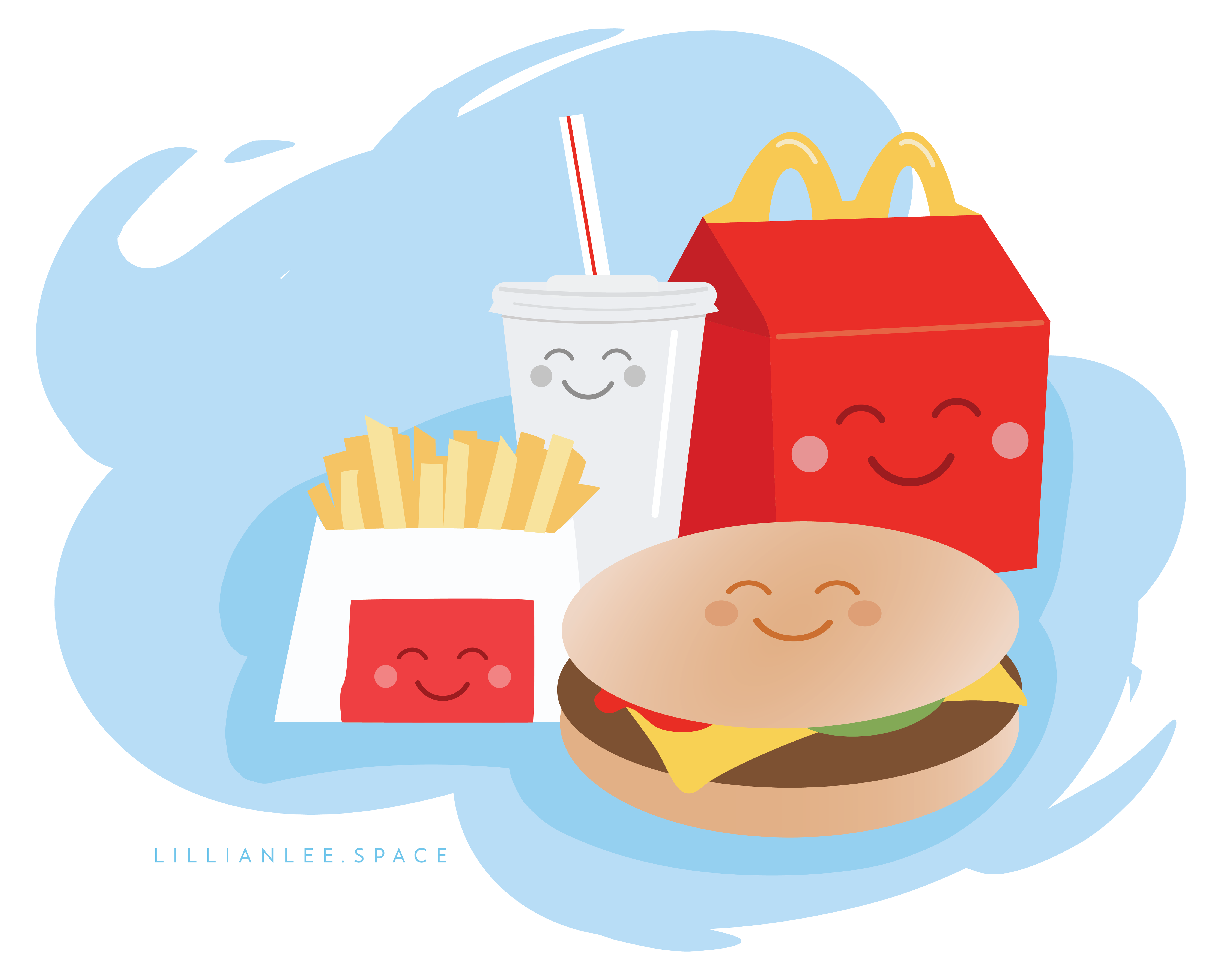 Have a HappeEee Meal illustration by Lillian Lee