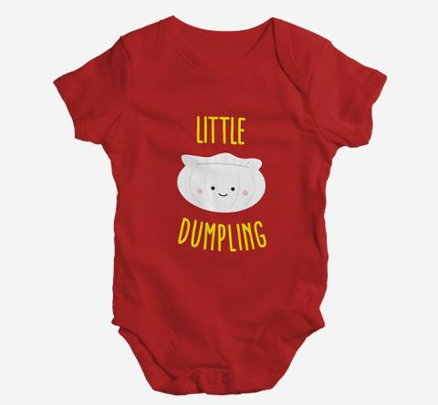 Little Dumpling Baby Onesie By Lillian Lee
