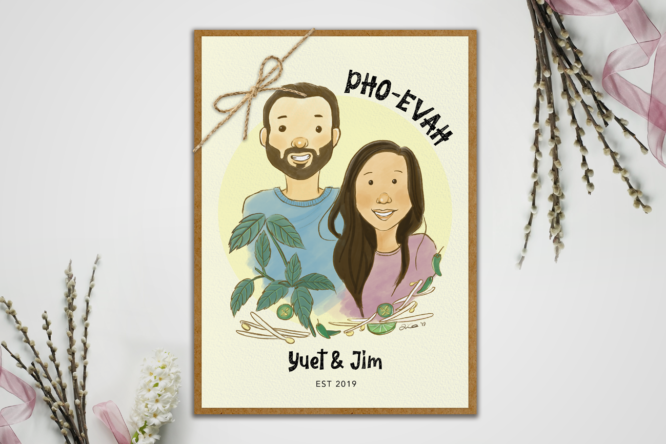 Pho-evah and evah wedding portrait by Lillian Lee