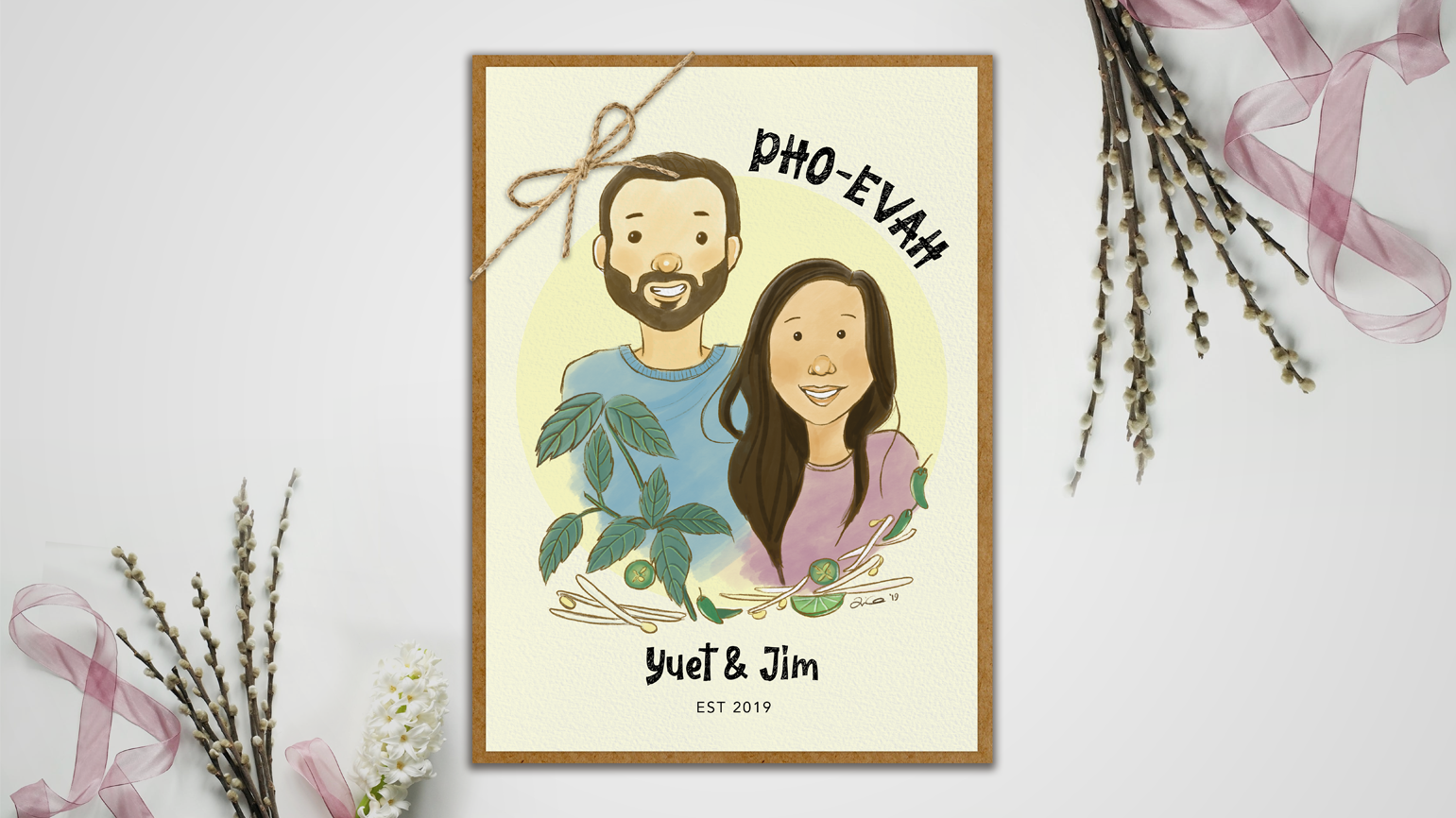 Wedding Portrait: Pho-Evah And Evah