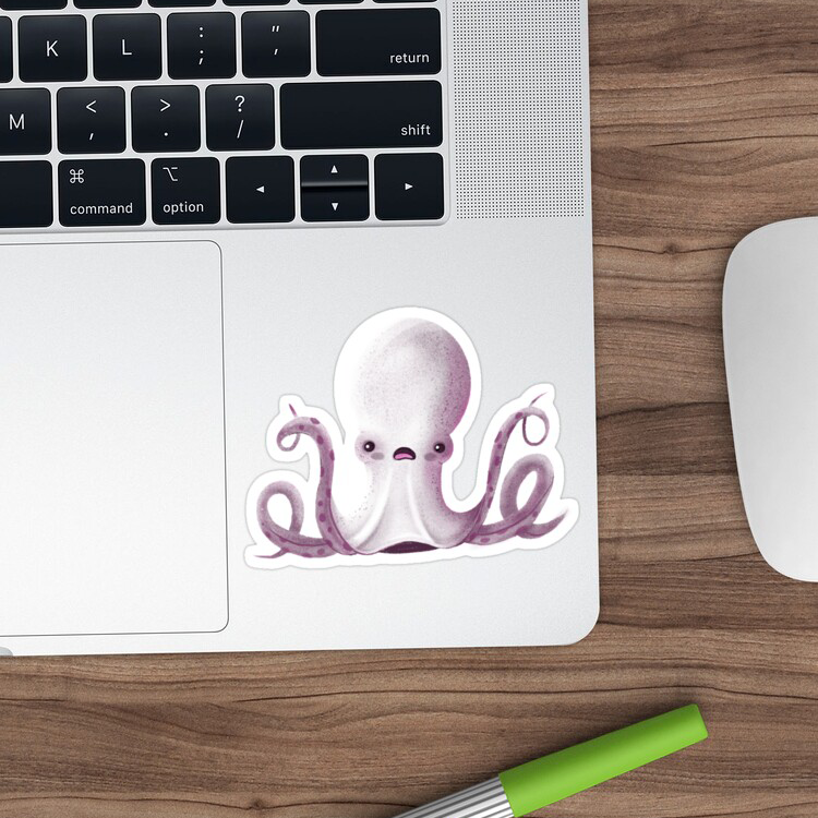 Ghostly Octopus sticker by LILLIAN LEE