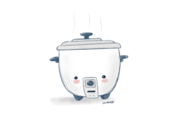 A Kawaii Rice Cooker Illustration