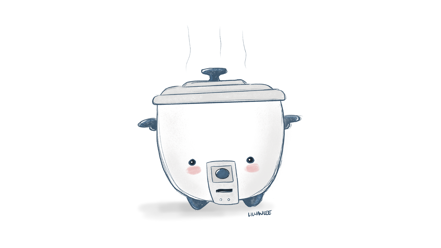 A Kawaii Rice Cooker Illustration by Empty Bamboo Girl / Lillian Lee