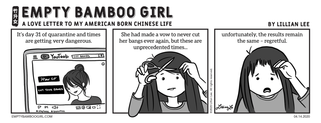 Unprecedented Times Sampan Newspaper Comic by EMPTY BAMBOO GIRL | Lillian Lee
