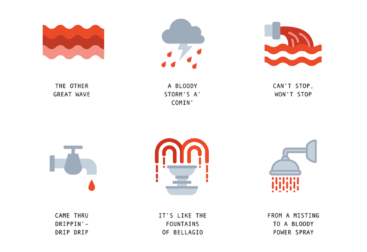 Alternative Menstruation Emojis
