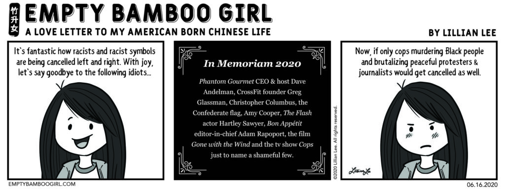 Cancel Out Racism.   EMPTY BAMBOO GIRL