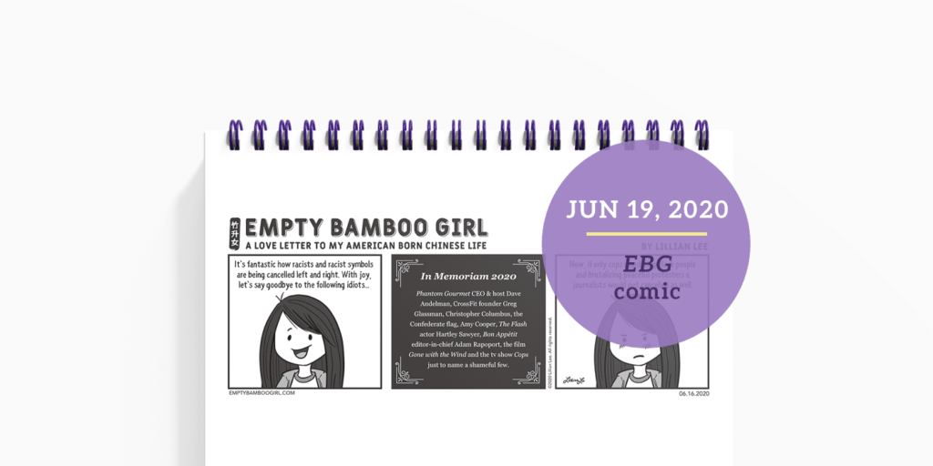 Empty Bamboo Girl Comic: Cancel Out Racism by Lillian Lee