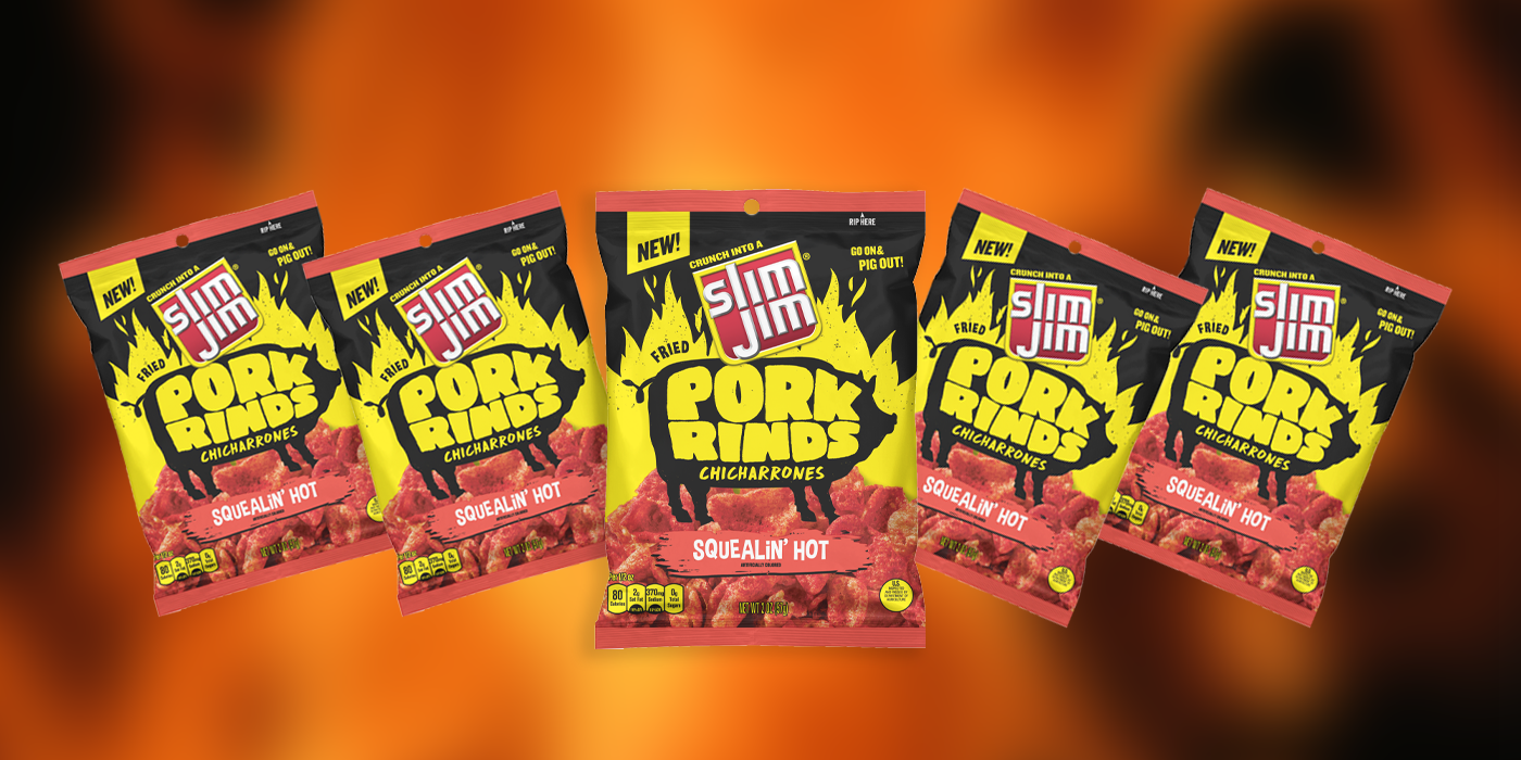 Slim Jim Squealin' Hot Pork Rinds Review [VIDEO]