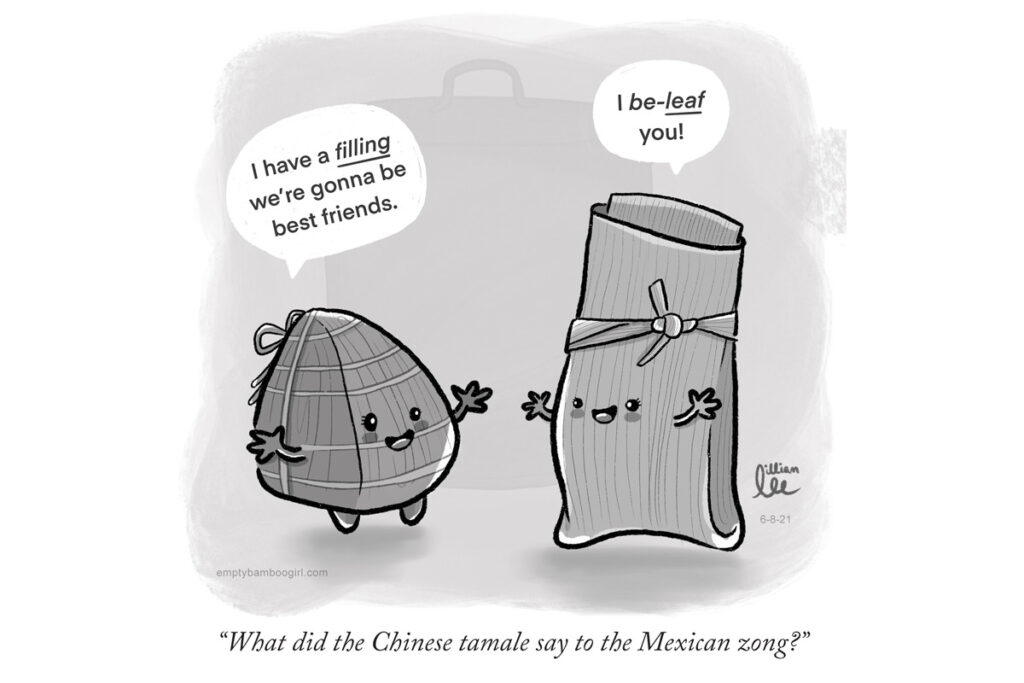 What did the Chinese tamale say to the Mexican zong? | empty bamboo girl by Lillian Lee